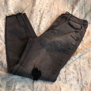 Dark grey jegging 11 stretch denim cutoff skinny